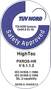 PXROS-HR HighTec safety approved label